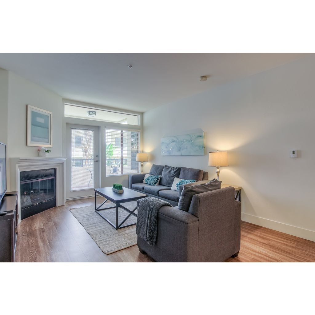 Fully Furnished 2BR Apt. Facing Interior Courtyard In The